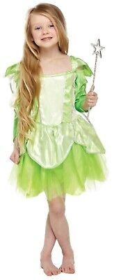 Mädchen Tinkerbell Grün Fee Kostüm Verkleiden Outfit Ages 4-9 Jahre Neu