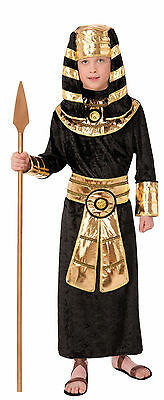 Kids Pharaoh Egyptian Costume King Tut Child Size Large 12-14