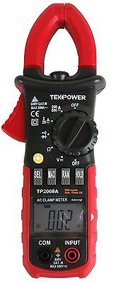 Tekpower Tp2008a 2000 Counts Clamp Meter Ac Dc Voltage Current Resistance Tester