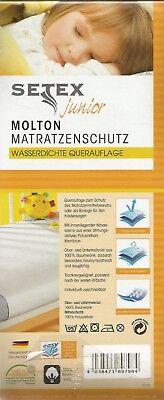 SETEX junior Molton Matratzenschutz 50 x 90 cm, Schutz-, Quer-Auflage - NEU