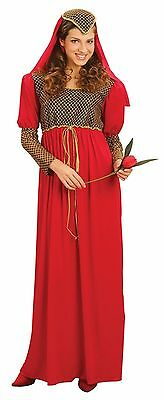 Ladies Fancy Dress Juliet Princess Romeo Lady Costume Medieval Tudor - Lady Juliet Kostüm