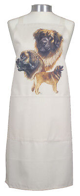 Leonberger Gr Breed of Dog Natural Cotton Apron Double Pockets Baker Cook Gift