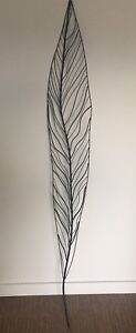 Steel Leaf/Feather Wall Hanging