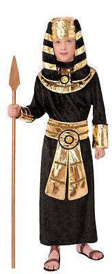 Ancient Egyptian Pharaoh Child Costume King Tut Black Gold Tunic small-md-large