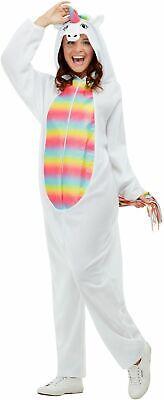 Erwachsene Einhorn Overall Kostüm Herren Damen Märchen Kostüm UK 8-22