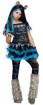 Mädchen 5 Stück Böse Werwolf Wolf Halloween Kostüm Kleid Outfit 4-12 Jahre ()