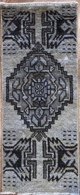 Opulent Oushak - 1940s Vintage Turkish Rug - Tribal Carpet - 1.3 X 3.1 Ft.