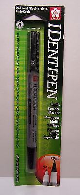 Black Dual Point Multi Surface Marker - IDenti-Pen 1.mm .4mm Photo Safe CD -