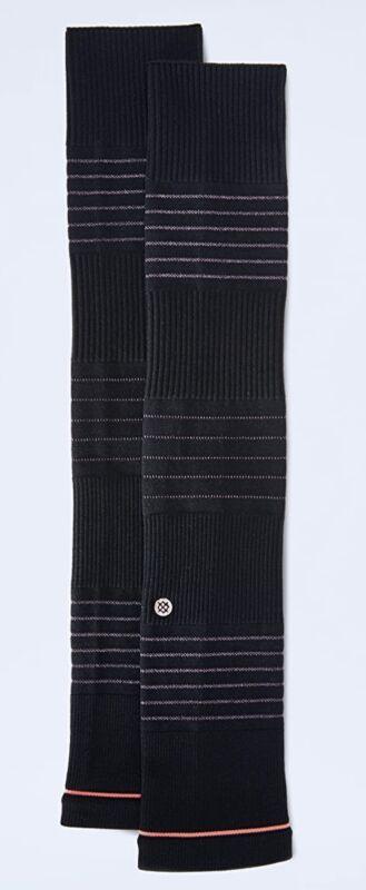 STANCE Shanti Sleeve Striped Footless Studio Socks Black NEW Womens O/S 5-10.5