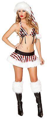 Candy Cane Skirt Set Candy Cane Bikini Christmas Costume Dance Bikini - Candy Cane Kostüm