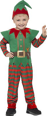 Santas kleiner Weihnachtself Kinderkostüm NEU - Jungen Karneval Fasching Verklei (Weihnachten Elf Kostüm Kinder)
