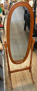 New Classic CHEVAL MIRROR Full Length Free Standing Dressing Wooden Antique OAK