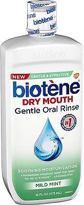 Biotene Dry Mouth Gentle Oral Rinse, Mild Mint 16 oz