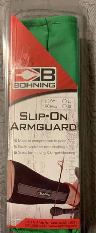 Bohning Slip On Armguard Green Size Medium Archery Protection