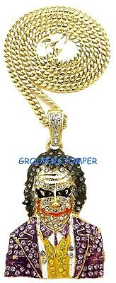 Joker Rhinestone - Joker New Rhinestone Iced Out Pendant with 24 Inch Long Necklace