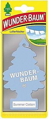 3 x Original WUNDERBAUM® Summer Cotton Lufterfrischer Duftbäumchen air freshener