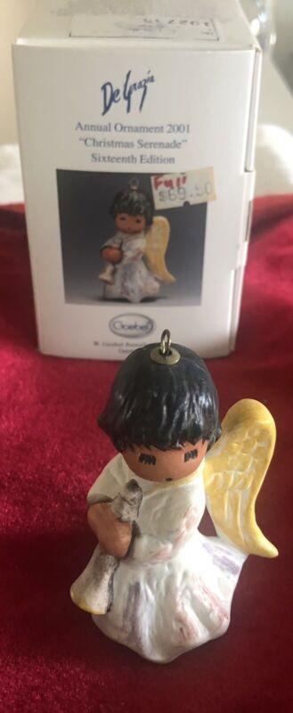 2001 DeGrazia Goebel Ornament 16th Annual Ed. w/Box CHRISTMAS SERENADE Angel