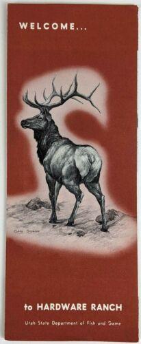 1960s Hardware Ranch Cache Forest Elk Utah UT Brochure Flyer Pamphlet Wapiti