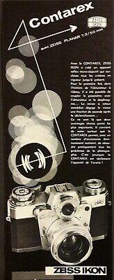 Publicité papier 1979 appareil photo ZEISS IKON  10 x 26 cm
