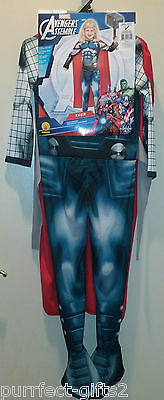 MARVEL ACTION HEROES AVENGERS THOR FULL HALLOWEEN COSTUME W/ WIG~CAPE~NEW~LG 7-8 - Action Heroes Halloween Costumes