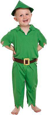 PETER PAN TODDLER BOYS FANCY DRESS WORLD BOOK DAY MISCHIEVOUS PARTY COSTUME 2-4 (Halloween Costume Peter Pan Toddler)