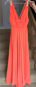 Absolutely Stunning Prom Dress - Neon Salmon, Size 4, Worn Once