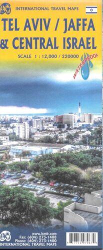 Map of Tel Aviv, Jaffa and Central Israel, Israel, by ITMB