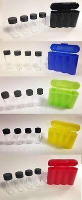 5 Vial Carrying Case Rainbow Original Holder 20 1 Ozt Gold Vials Storage Vault