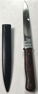 WWII GERMAN BOOT FIGHTING KNIFE & SCABBARD