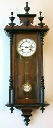 Antique Junghans German wall clock Vienna regulator 1890