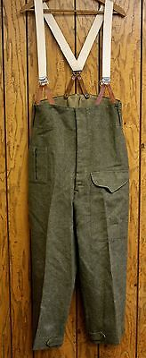 World War 2 Era Canadian Wool Serge Battledress Trousers with Suspenders