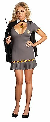 Wizard Wanda Adult Women's Costume Pleated Hem & Cape Fancy Dress Dream Girl