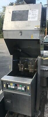 Pitco Fryer W Giles Ventless Hood Fire Suppression Oil Filter System 1ph