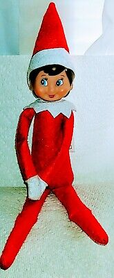 "Elf on the Shelf Boy Doll 13"" Blue Eyes Great Condition"