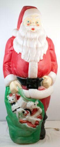 "Vintage Empire Blow Mold Santa 46"" Tall - Christmas Lawn Decoration - XLNT"