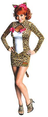 Josie Adult Womens Costume Archie Comics Sexy Mini Leopard Print Dress Halloween](Archie Halloween Costumes)