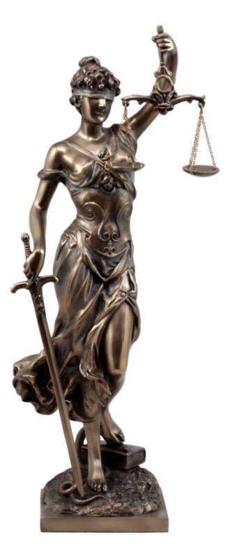 "Ebros Greek Goddess Lady Of Justice Statue 13.5""H La Justicia Dike Figurine"