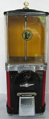 Vintage Victor Topper 1¢ Gumball Vending Machine  Clean Working w Key