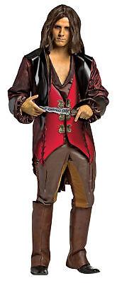 Once Upon A Time Rumpelstiltskin Adult Men's Costume Leather Vest Rasta Imposta - Rumpelstiltskin Costume