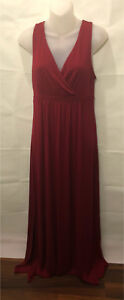 Matty M long maxi dress, colour Ruby Xsmall Womens