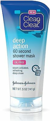 Clean & Clear Deep Action 60-Second Shower Mask, 5 Oz