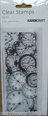 Kaisercraft Clear Stamp for Rubber Stamping CLOCK FACES Timepieces