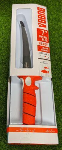 "Bubba Tapered Flex Blade/Sheath, 7"" Fillet Knife, Full Tang, Non-Slip - BB1-7F"