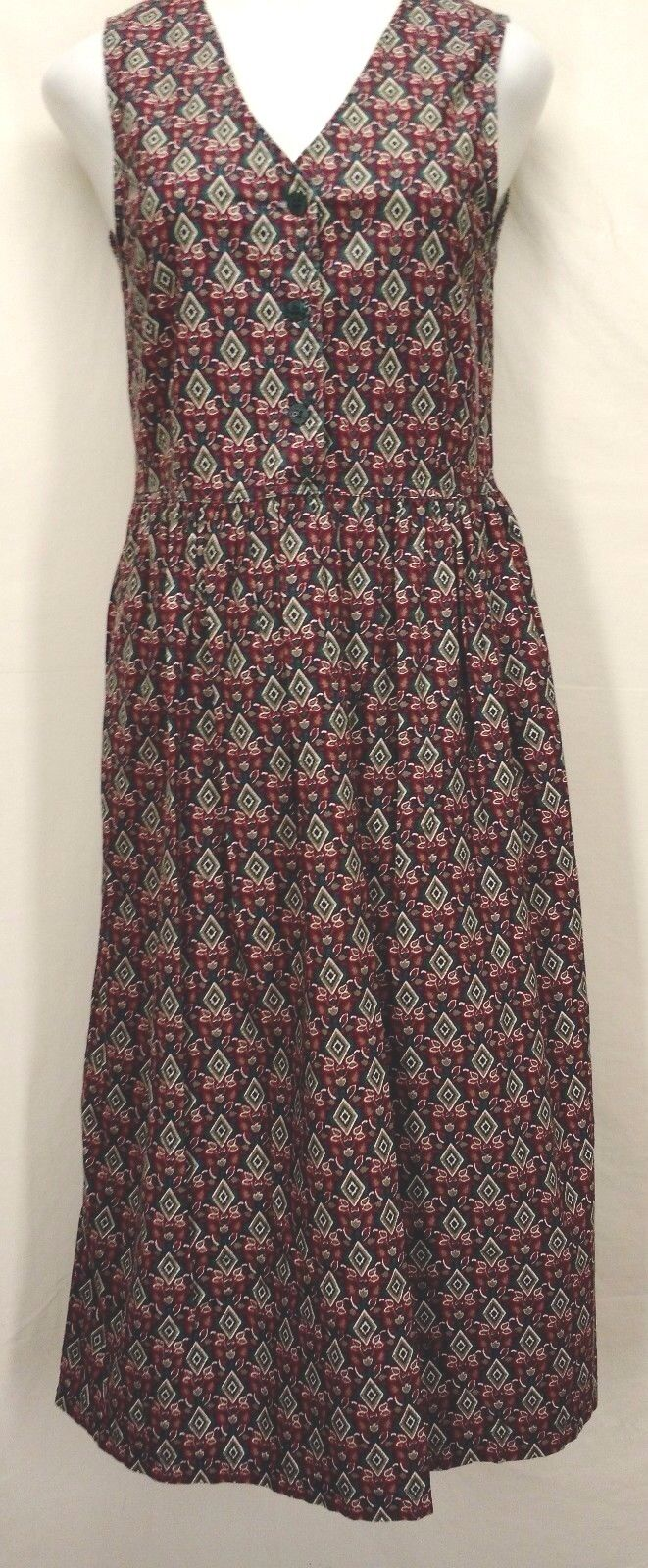 255f764c140 Details about WOOLRICH Womens Red Green 100% Cotton Dress Casual Career  Size Small S