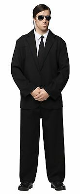 Black Suit and Tie Adult Mens Costume Secret Service Blues Brothers Men in Black - Men In Black Costume