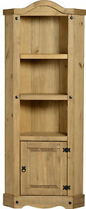 Corona-Tall-Corner-Display-Unit-Wood-Mexican-Pine-New
