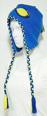 Nuevo Claire's Niño Gorro de Invierno Azul Gorro Con Trenzas Gafas