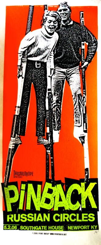 Pinback Poster w/ Russian Circles 2006 Concert
