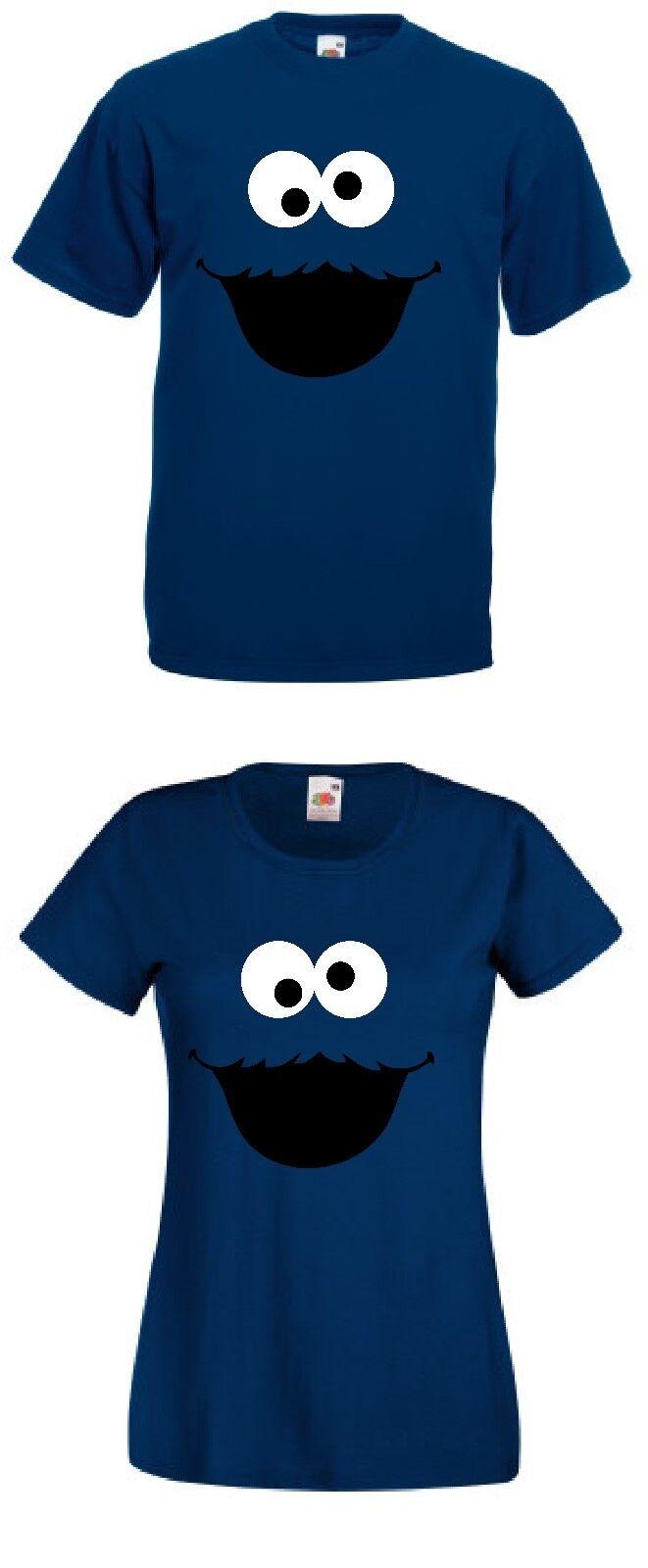 Krümelmonster Keksmonster T-Shirt Fans Kostüm Karneval Fasching Damen Herren