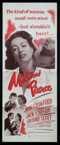 MILDRED PIERCE JOAN CRAWFORD FILM NOIR R-1956 INSERT